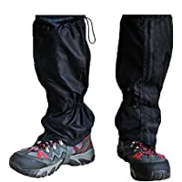 TRIXES Hiking Gaiters 1 Pair Waterproof Outdoor Walking Climbing Snow Legging Gaiter