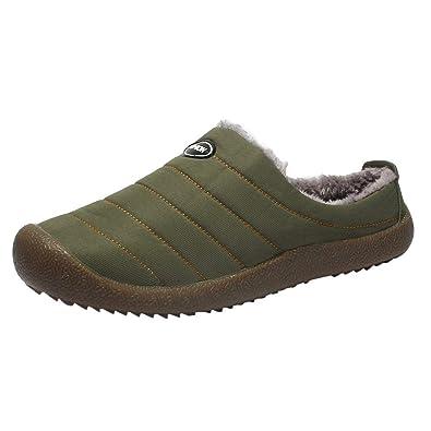 MAYOGO Herren Hausschuhe aus Baumwolle Lining,Winter Plus Samt Warm Low-top  Schuhe, 974ea3c69d