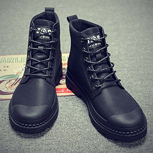 Keep High Slip Warm Winter Martin Black Feifei Boots Men's Shoes Non Help qxwtxB0O