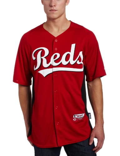 MLB Cincinnati Reds Authentic Cool Base Batting Practice Jersey, Red/Black, X-Large