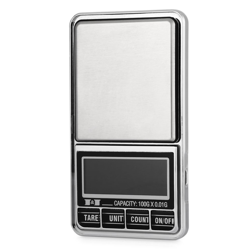 TOOGOO 100g/0.01g Smart Mini LED Electronic Digital with Micro-USB interface Chargeable Pocket Scale for Gold Jewellery