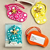 120 Flip Flop Luggage Tags in Decorative 24 Piece Display Box