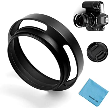 58mm Lens Hood Universal Collapsible Lens Sun Shade Hood with Centre Pinch Lens Cap for Canon Nikon Sony Pentax Olympus Fuji Camera