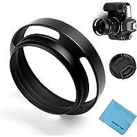39 mm ihålig motljusskärm, fotover universal metall solskydd spridningslock med glaslock för Canon Nikon Sony Pentax…