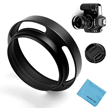 37mm-62mm Metal Hollow Lens Hood Sun Shade Cover for Nikon Canon Sony Cameras