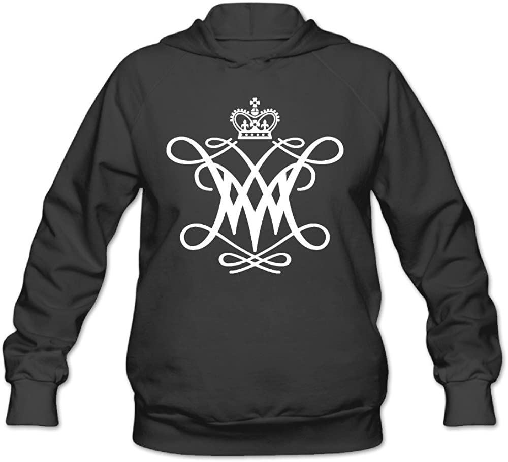 Duola Custom William W and Mary M Women's Long Sleeve Hooded Sweatshirt Black