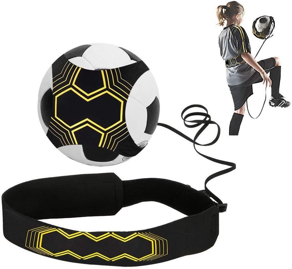 Kick Football Solo Soccer Ball Trainer Practice Skill Training Aid Equipment