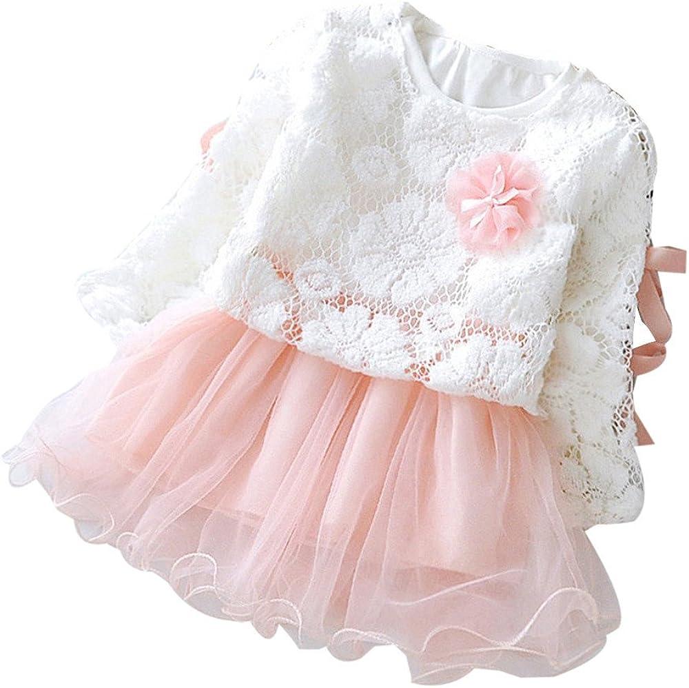 Karoleda Autumn Infant Baby Kids Girls Clothing Set Party Lace Tutu Princess Dress Outfits Bodysuit