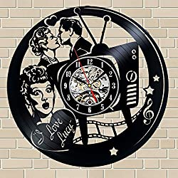 I Love Lucy TV Series Vinyl Wall Clock 12 in(30cm) Black Decor Modern Decorative Vinyl Record Wall Clock This Clock Is A Unique Gift To Your Friends And Family For Any Occasion