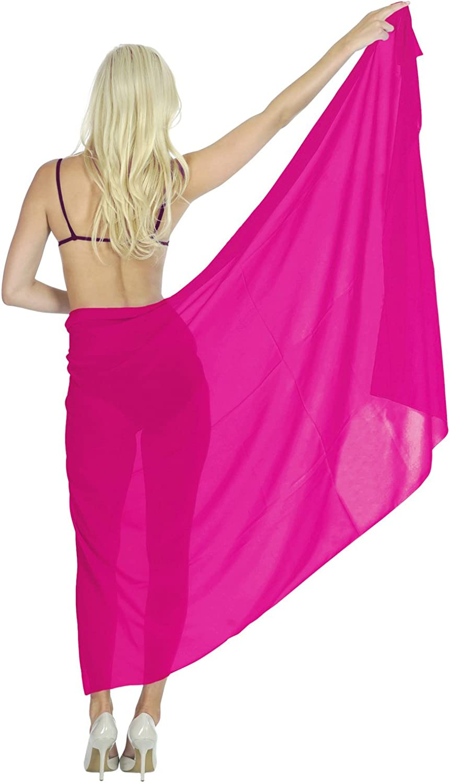 LA LEELA Women One Size Summer Beach Wrap Cover Up Maxi Skirt Sarong Full Long B