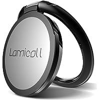 Lamicall Anneau Support Téléphone, Support Téléphone : Bague Support pour Phone XS Max XR X 8 7 6 Plus 5 4, Huawei, Samsung S9 S8 S7 S6 S5 S4 S3, Android Smartphones Aluminium - Noir