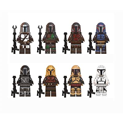 Mandalorian building blocks Mandalorian character statue models are gifts for fans and collectors.: Everything Else