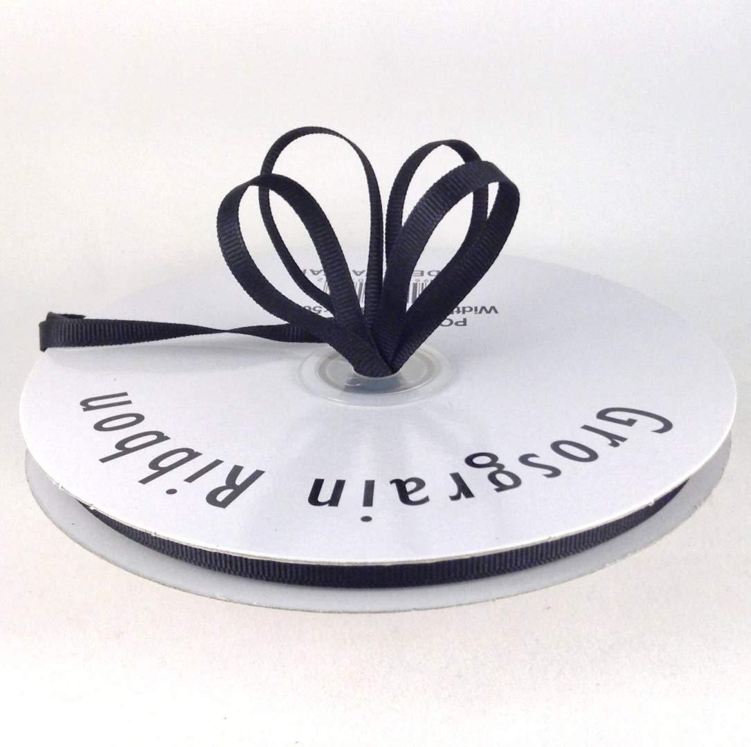 American Crafts 1//4-Inch Satin Ribbon 10-Yard Spool Black