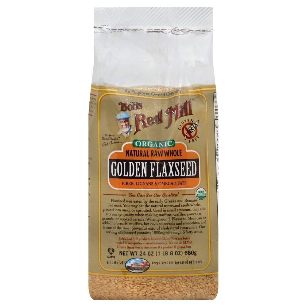 Bobs Red Mill Flaxseed Golden Organic 24.0 OZ(Pack of 3)