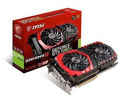 MSI GeForce GTX 1080 Ti Gaming X 11G - Tarjeta gráfica (refrigeración Twin Frozr Vi, Backplate, LED RGB, 11 GB de Memoria GDDR5X, VR Ready)