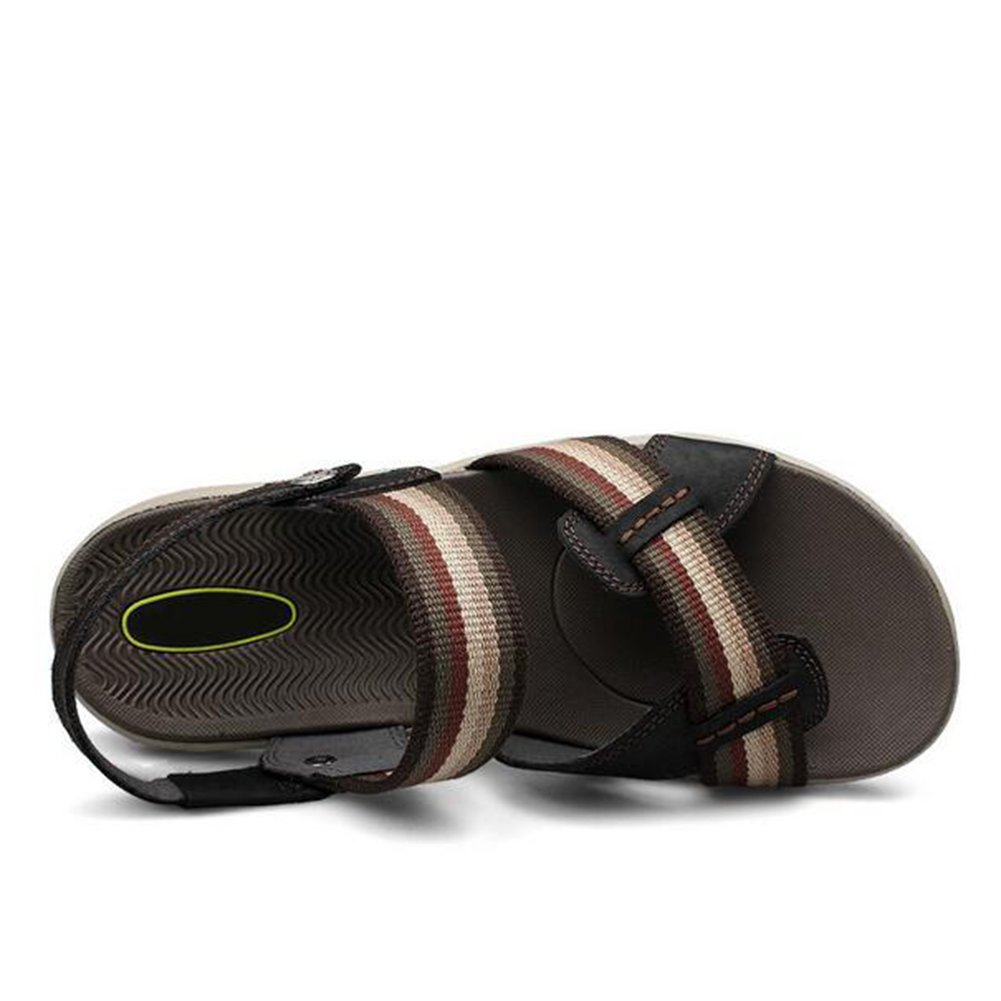 HUAN   Herren Casual Strand Schuhe Sommer Sandalen Leder Strand Casual Schuhe Flip Flop Hausschuhe Größe schwarz 5b47ee