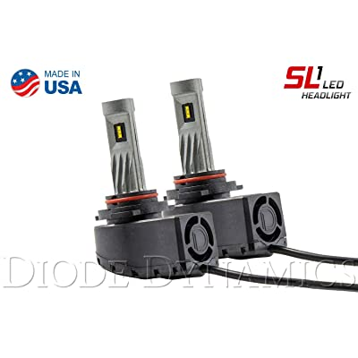 9006 SL1 Cool White LED Headlight Bulbs (pair): Automotive