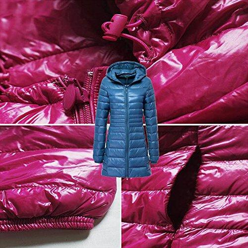 Outerwear 10 Delle Disponibili Lungo Donne Inverno Leggero Xfentech Di Cappotto Blu Colori Piumino TXdxgqXw4
