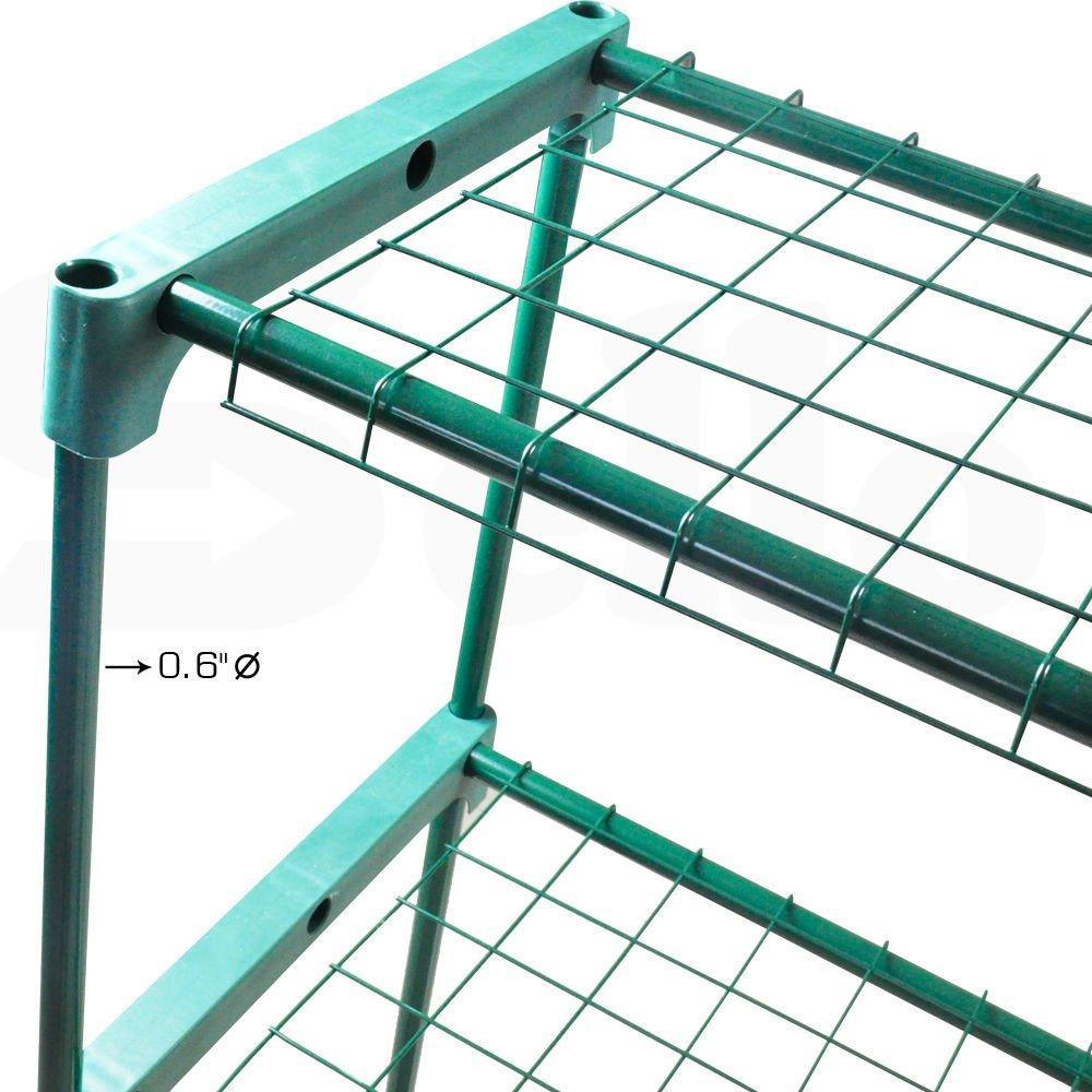 Amazon.com: Unidades de 4 pisos invernadero de 2 estantes ...