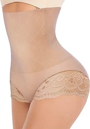 Junlan Women Body Shaper Briefs Butt Lifter Hi-Waist Panty Waist Trainer Hip Enhancer Tummy Control Shapewear