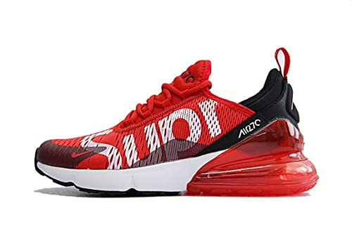 Supreme x Air Max 270 Sup Red White Black Scarpe da Ginnastica Uomo Donna