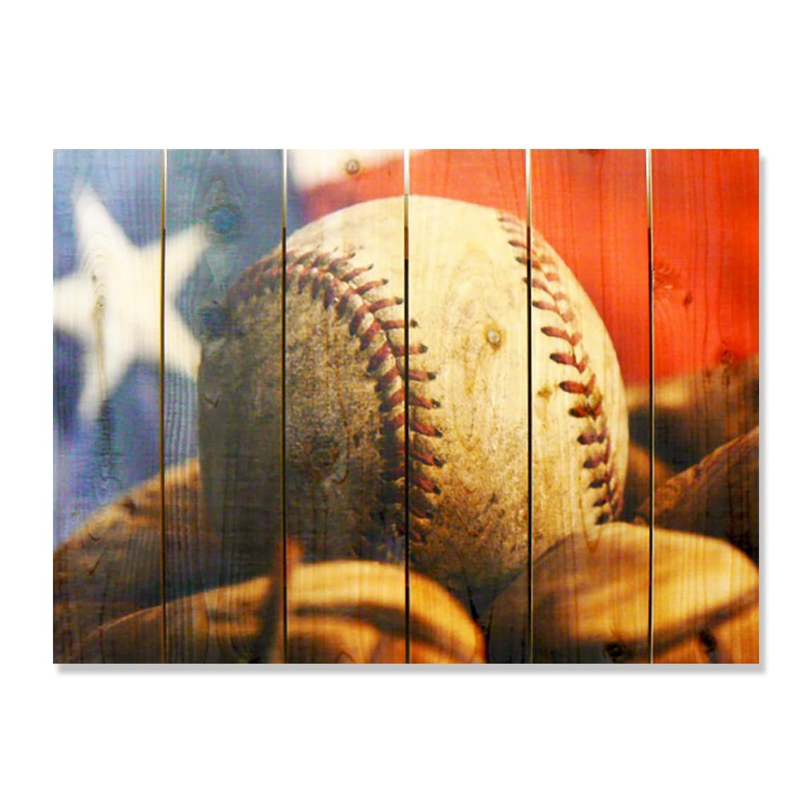 Gizaun Art ''All American'' Inside/Outside Full Color Cedar Wall Art, 33 by 24-Inch