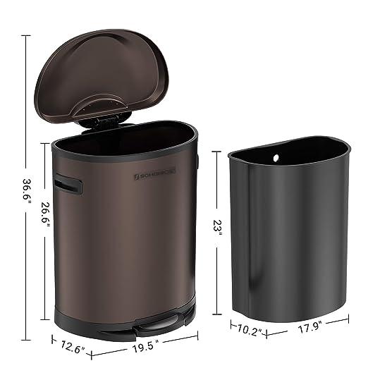 Amazon.com: SONGMICS - Cazuela de basura para basura de ...