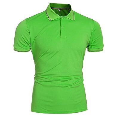 Camisas para Hombres Rovinci Camisa de Verano con Cuello Alto Blusas Camisetas de Manga Corta para Hombres sólidos Tops: Amazon.es: Ropa y accesorios