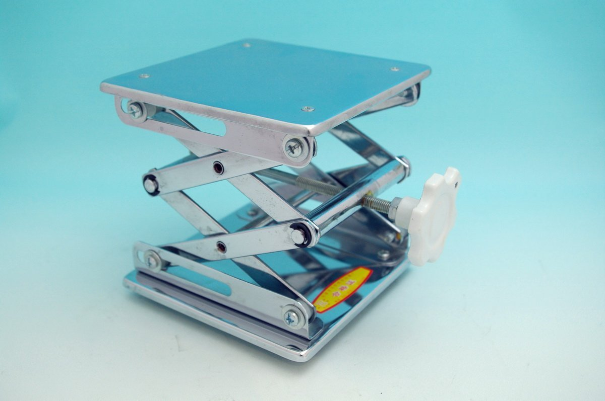 Beyondsupply-lab Stainless Steel Lab Jack 12''(30cm)x12''(30cm)Scissor Stand lifting table new