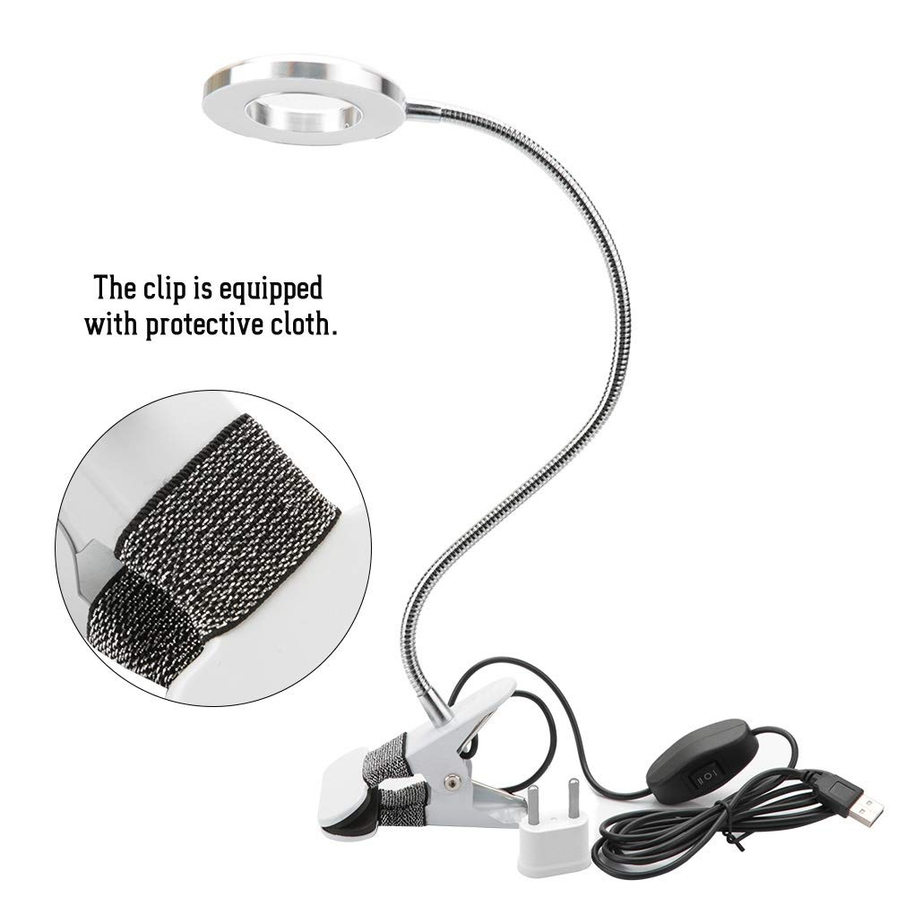 f/ür Augenbrauent/ätowierung T/ätowierung Manik/üre Wimpernverl/ängerung LED Sch/önheit Lamp Tattoo Lamp Schreibtisch Leuchte mit Schlauchklemme