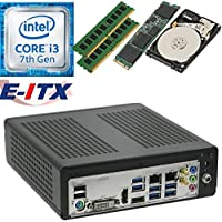 E-ITX ITX350 Asrock H270M-ITX-AC Intel Core i3-7100 (Kaby Lake) Mini-ITX System , 16GB Dual Channel DDR4, 120GB M.2 SSD, 2TB HDD, WiFi, Bluetooth, Pre-Assembled and Tested by E-ITX