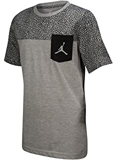 11ad83ff Jordan Boys' Nike Air Jumpman Short Sleeve Graphic Pocket T-Shirt (Dark Grey