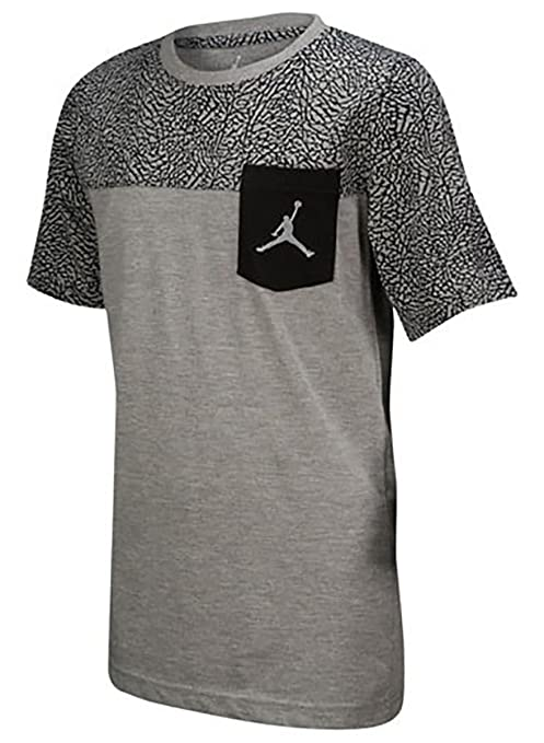 6c5b923d177 Image Unavailable. Image not available for. Color: Jordan Boys' Nike Air  Jumpman Short Sleeve Graphic Pocket T-Shirt (Dark Grey