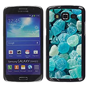 Be Good Phone Accessory // Dura Cáscara cubierta Protectora Caso Carcasa Funda de Protección para Samsung Galaxy Grand 2 SM-G7102 SM-G7105 // Crystal Meth Rocks Candy Blue Beach