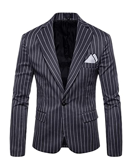Hommes Elegant Rayure Costume Veste Manteau D'a faires