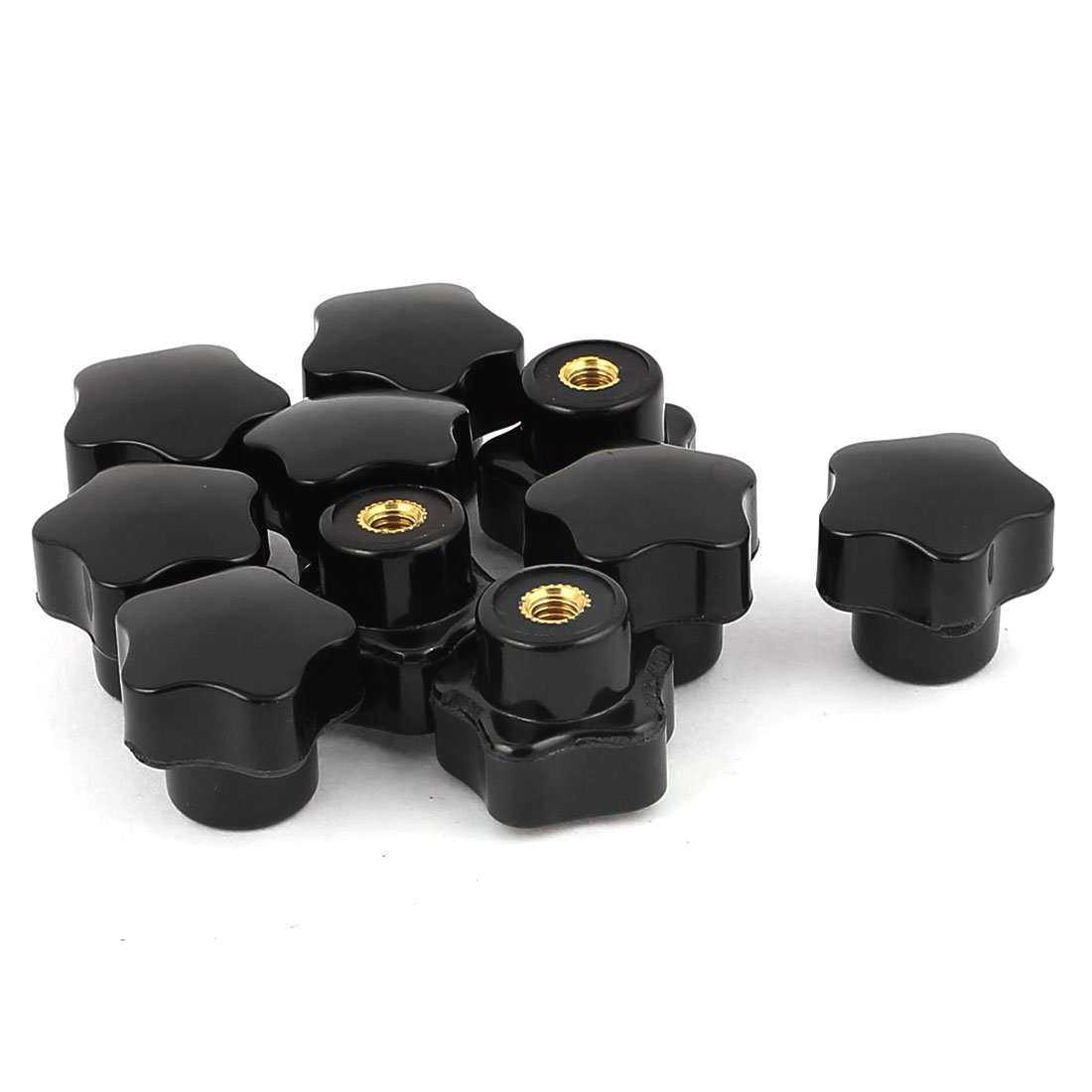Uxcell a15120700ux0572 Plastic Star Head Clamping Screw Nuts Knob Handle