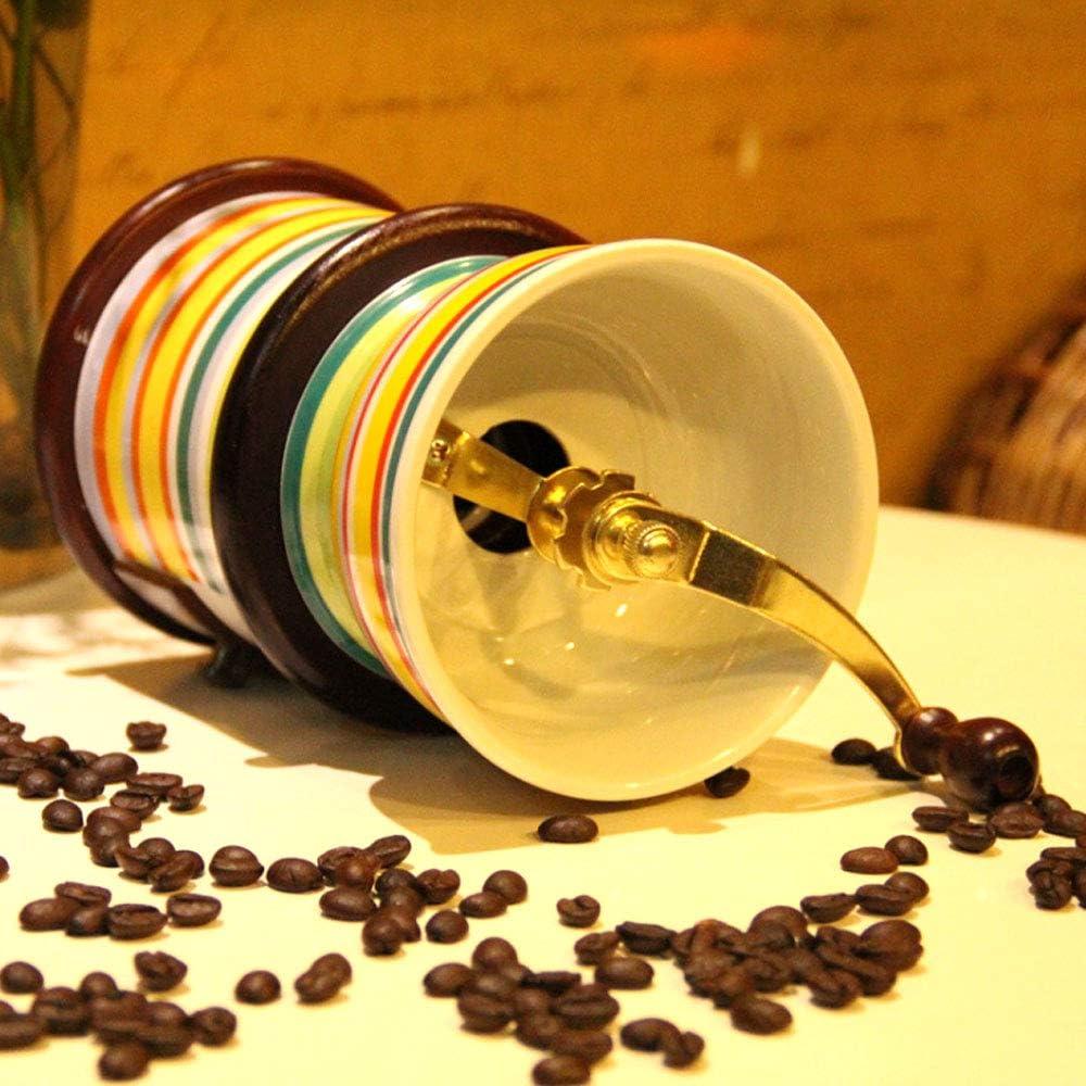 All Ceramic Coffee Grinder Vintage Style Coffee Grinder Spice Hand Grinding Machine Hand-Crank Roller Drive Grain Burr Mill Coffee Machine