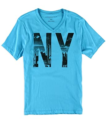 970b5da23ed2 Aeropostale Mens NYC V-Neck Graphic T-Shirt | Amazon.com