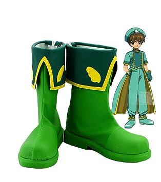 SAKURA KINOMOTO Cosplay Shoes Boots Custom Made Green 1