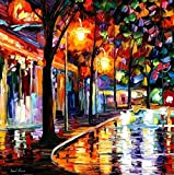 NIGHT CAFE is an ARTIST-EMBELLISHED, HAND SIGNED AND NUMBERED Giclee on Canvas by Leonid Afremov. NIGHT CAFE is one of our best sellers. Fans of Afremov love the deep, bright colors and how Leonid captures light to illuminate this amazing artwork. In...