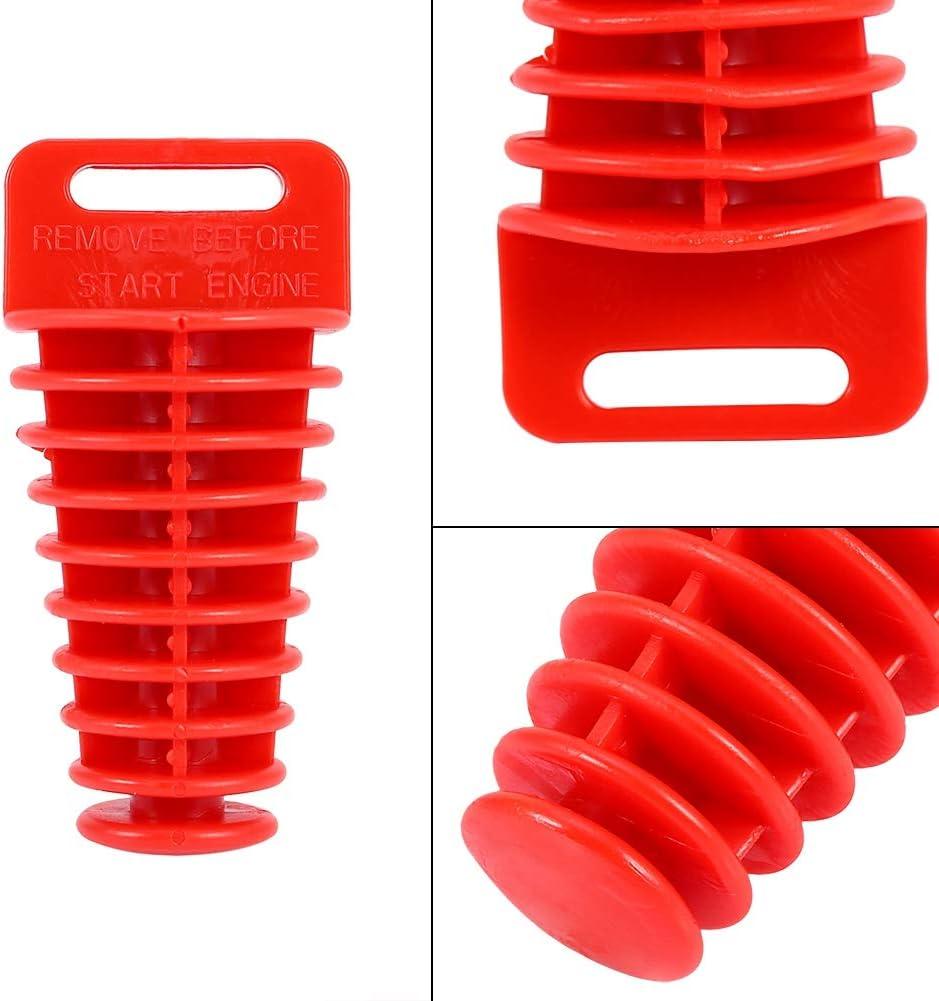 Exhaust Plug Qiilu Wasch Stopfen Gummi Motorrad Schalld/ämpfer Stecker Rot 98mm f/ür die meisten 2-Takt//4-Takt Motorrad ATV QUAD