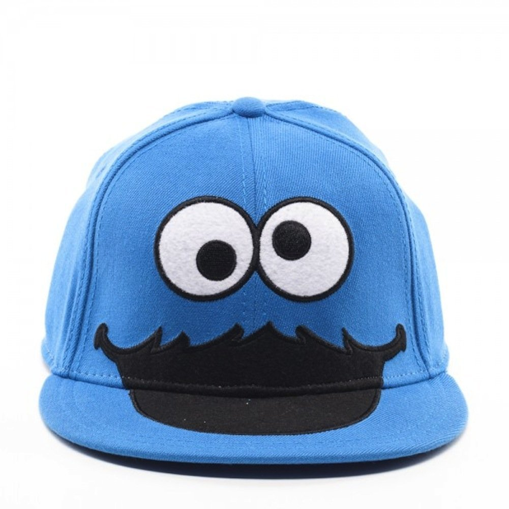 95e9db4ed8cc3 Sesame Street Cookie Monster Face Fitted Flat-bill Hat