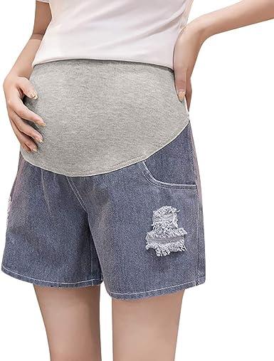Pantalones vaqueros de premamá ajustables, cintura alta