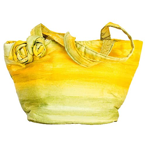 in Setart - Cartera de mano de tela para mujer amarillo amarillo