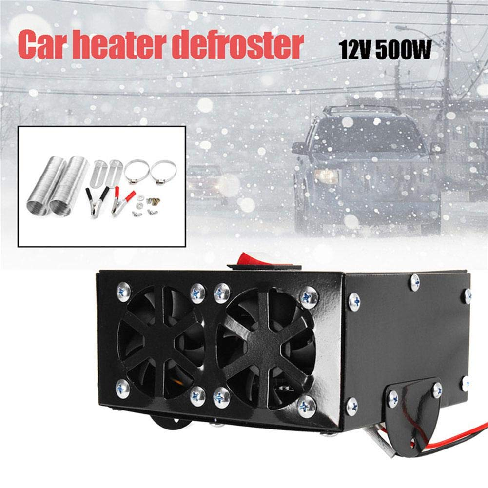 S WIDEN ELECTRIC 12V 500W Car Truck Fan Heater Heating Warmer Windscreen Defroster Demister Fan Car Heater Defroster Demister