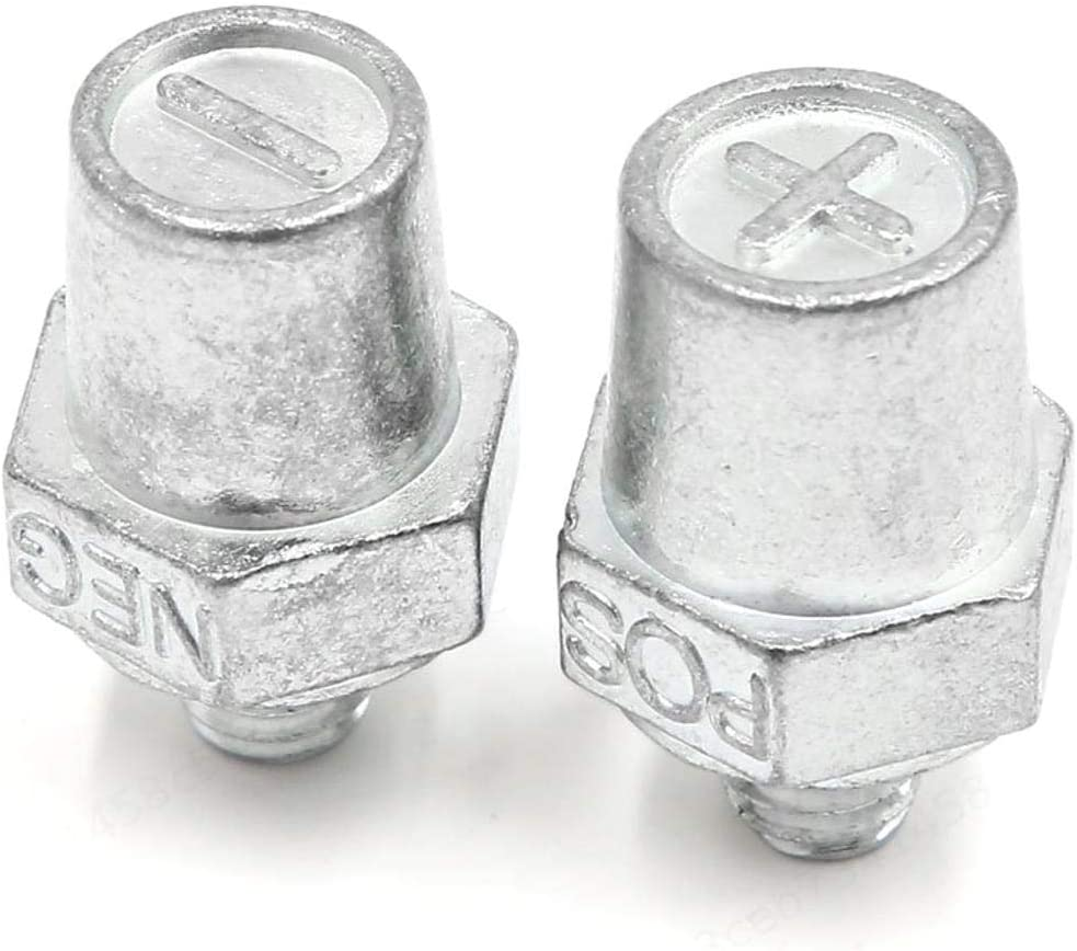 DeoMeat Terminales Terminal Negativo Adaptador convertidores Positivo de la batería del Anuncio Amplificador del Coche de batería de cableado (4pcs)