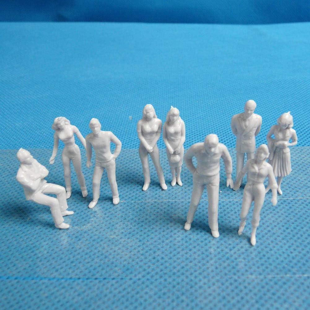 ABS 100 St/ück wei/ß DIY-Spielzeug 1//25 Modellfiguren Random Style unlackiert JujubeZAO Modellfiguren 1//25 bis 1//200 Ma/ßstab
