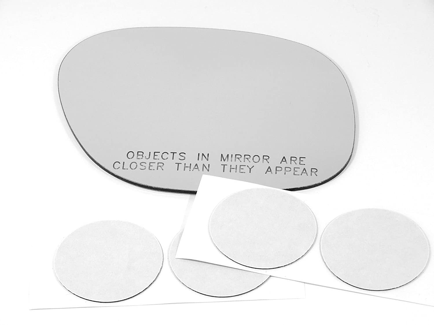 96-00 Toy Rav4 Right Passenger Convex Replacement Mirror Glass Lens w//Adhesive USA