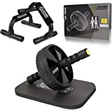 POWER GUIDANCE Ab Wheel Roller - - The Best Fitness Equipment for 6 Pack Abs & Core Workout - with Innovative Non-Slip…