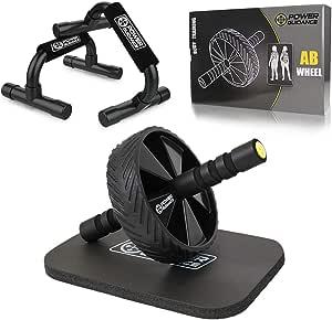 POWER GUIDANCE Rodillo para Abdominales AB Roller para Entrenar Abdominales, Musculatura y Espalda